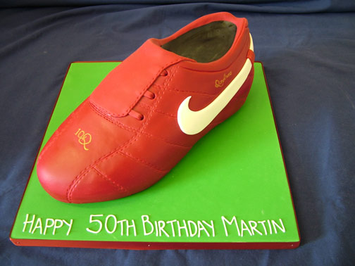Football Boot Cakes Designs